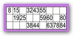 Bingo 90 boules
